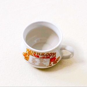 3/$25 Vintage White Jumbo Soup Mug Mushroom Cream
